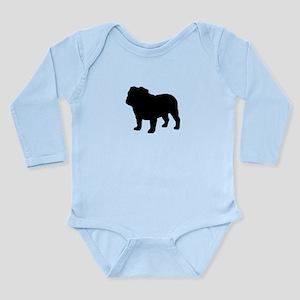 Bulldog Long Sleeve Infant Bodysuit