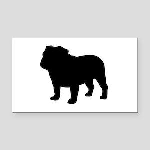 Bulldog Rectangle Car Magnet