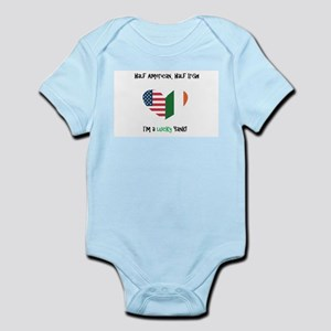Half American Half Irish Baby Body Suit
