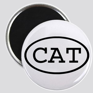 CAT Oval Magnet