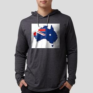 Australia map with flag Long Sleeve T-Shirt