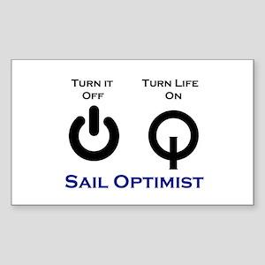 Opti Sailing Sticker