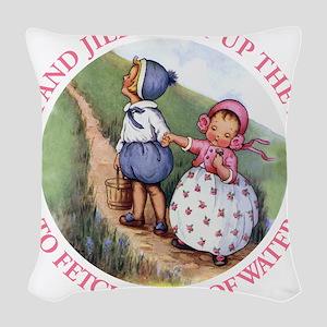 Jack And Jill copy Woven Throw Pillow
