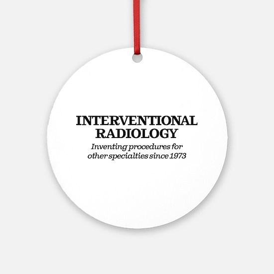 Interventional Radiology Round Ornament