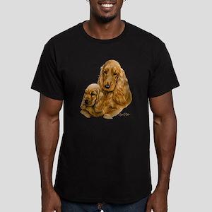 Cocker Spaniel (Englis Men's Fitted T-Shirt (dark)