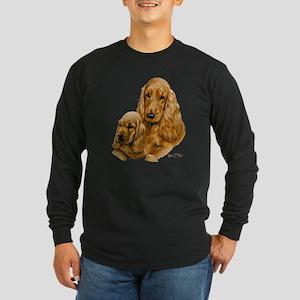 Cocker Spaniel (English) Long Sleeve Dark T-Shirt