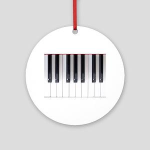 Keyboard 7 Round Ornament