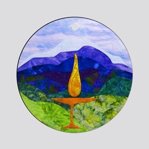 Mountain Chalice Ornament (round)