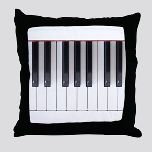 Keyboard 7 Throw Pillow