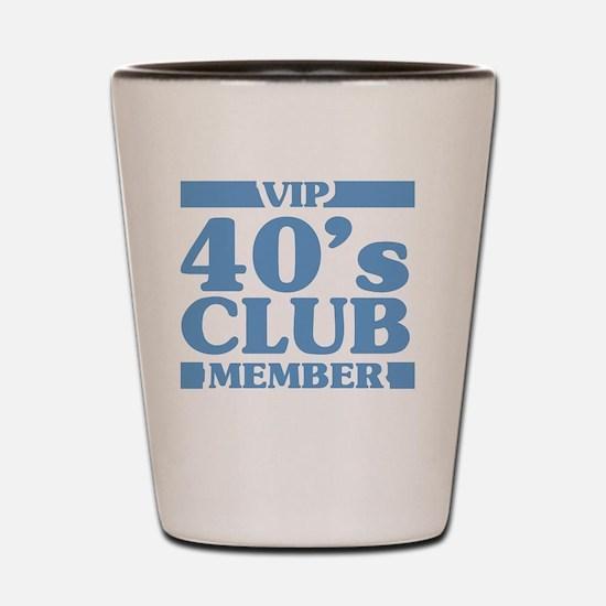 VIP Member 40th Birthday Shot Glass