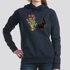 EASTER_SCOTTYx copy Women's Hooded Sweatshirt