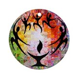 Flaming chalice Round Ornaments