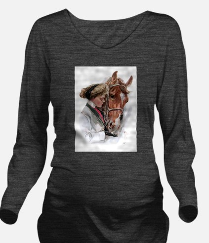 fair americans horse.png Long Sleeve Maternity T-S