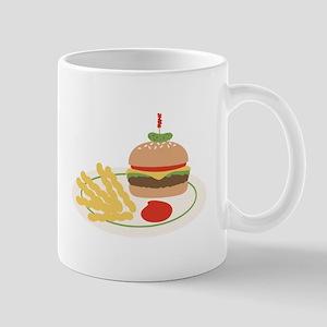 Dinner Hamburger Fries Mugs