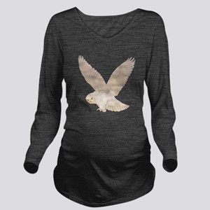 owl2_SQ_NEW copy Long Sleeve Maternity T-Shirt