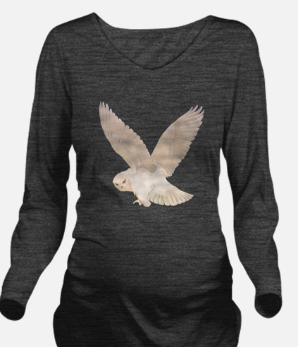 owl2_SQ_NEW copy.png Long Sleeve Maternity T-Shirt