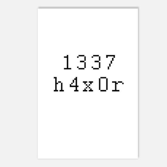 1337 h4x0r - Leet Hacker Postcards (Package of 8)