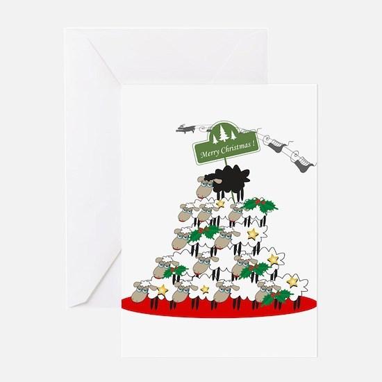 Funny Sheep Christmas Tree Greeting Card