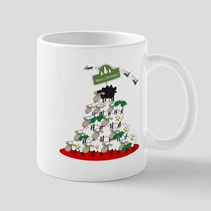 Funny Sheep Christmas Tree Mug
