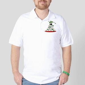 Funny Sheep Christmas Tree Golf Shirt
