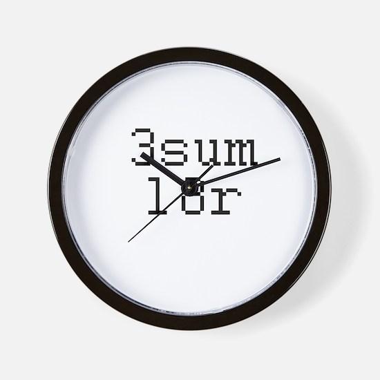 3sum l8r - threesome later Wall Clock