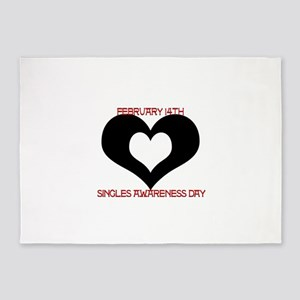 SAD? Singles Awareness Day 5'x7'Area Rug