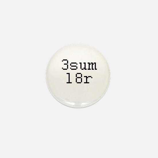 3sum l8r - threesome later Mini Button