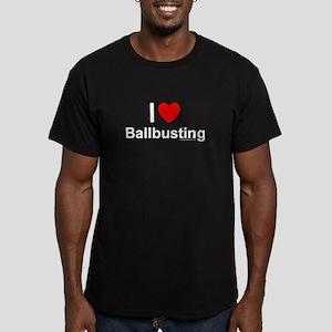 Ballbusting Men's Fitted T-Shirt (dark)