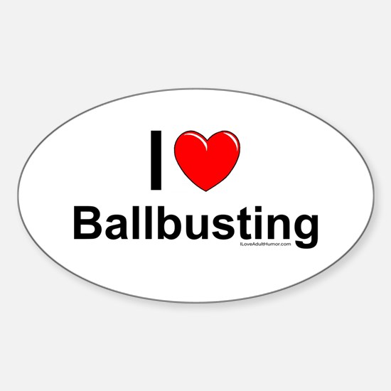 Ballbusting Sticker (Oval)