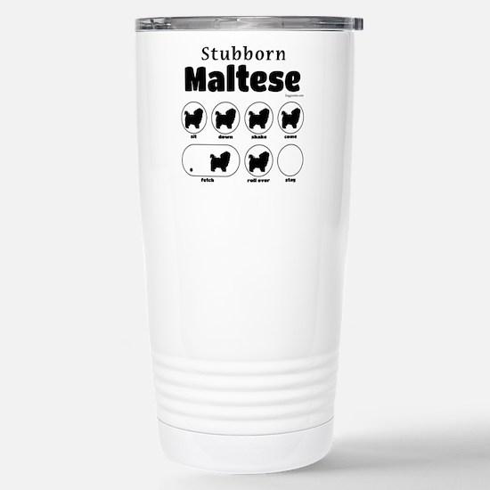 Stubborn Maltese v2 Stainless Steel Travel Mug