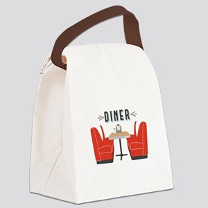 Diner Table Canvas Lunch Bag