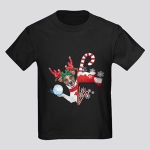 Christmas Funny Dog with Snowball T-Shirt