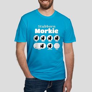 Stubborn Morkie v2 Men's Fitted T-Shirt (dark)