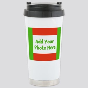 CUSTOMIZE with Your Photo Holiday Travel Mug