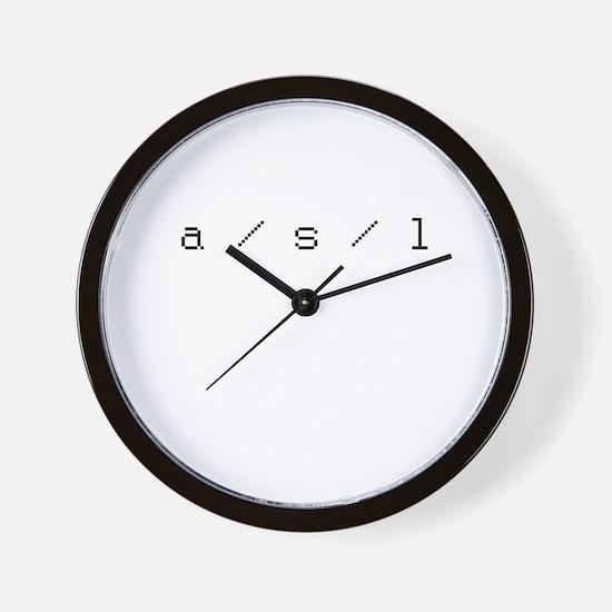 a/s/l Wall Clock