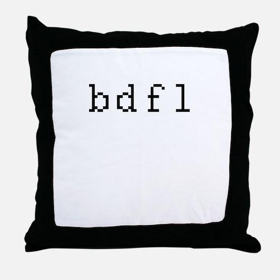 bdfl - Benevolent dictator for life Throw Pillow
