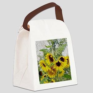 Sunflower Morn Canvas Lunch Bag