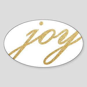 Joy Gold Sparkle Design Sticker