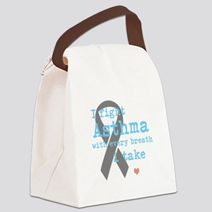 I Fight Asthma Canvas Lunch Bag