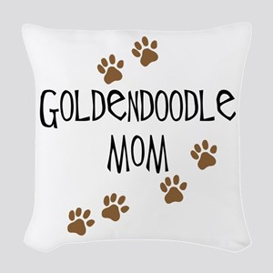 Goldendoodle Mom Woven Throw Pillow