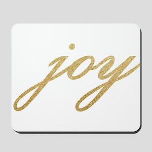 Joy Gold Sparkle Design Mousepad