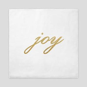 Joy Gold Sparkle Design Queen Duvet
