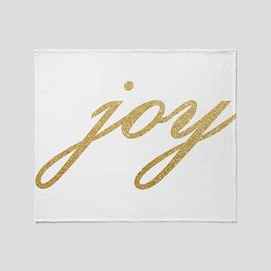 Joy Gold Sparkle Design Throw Blanket