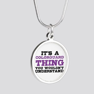 Colorguard Thing Silver Round Necklace
