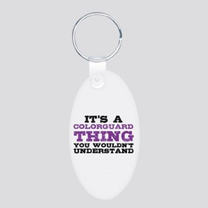 Colorguard Thing Aluminum Oval Keychain