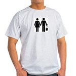 Man + Woman + Cigar Box Guitar T-Shirt