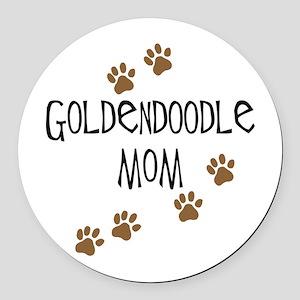 Goldendoodle Mom Round Car Magnet