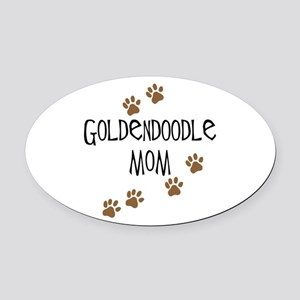 Goldendoodle Mom Oval Car Magnet
