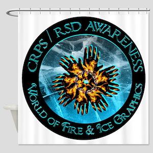 CRPS RSD Awareness World of Fire Ic Shower Curtain