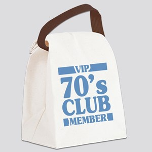 VIP Member 70th Birthday Canvas Lunch Bag